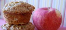 Muffins μήλου με λίγα λιπαρά
