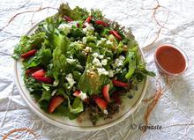 Ανοιξιάτικη Πράσινη Σαλάτα με Φράουλες και Φέτα