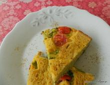 Ομελέτα φούρνου με ντοματίνια κ μπρόκολο-Omelette with cherry tomatoes and broccoli