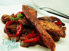 Φιλετίνια Κοτόπουλου με Μπαλσάμικο και Καραμελωμένα Λαχανικά - Funky Cook