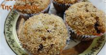 Muffins με φιστίκια Αιγίνης και σοκολάτα