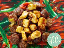 Λουκάνικο Σαγανάκι με Πεκορίνο  - Funky Cook