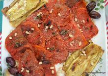 Σαλάτα με ψητά φιλέτα ντομάτας