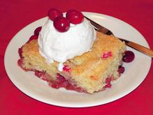 Cran-Apple Cake/κέικ με μήλα και cranberries