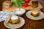 Burger ρεβιθιών με τζατζίκι, της Εύης Σκούρα