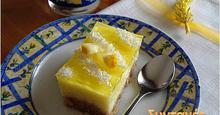 Γλυκό ψυγείου λεμόνι - καρύδα