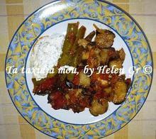 Μελιτζάνες στο φούρνο με ντομάτα και χαλούμι