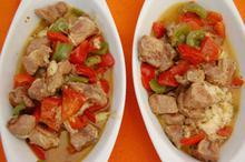 Συνταγή: Χοιρινό με πιπεριές, γραβιέρα, κρασί, λεμόνι, ρίγανη, κύμινο