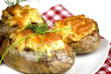 Πατάτες γεμιστές με μπέικον και τυρί - Συνταγές Μαγειρικής - Chefoulis