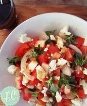 Σαλάτα με Ροδάκινο, Γλυστρίδα και Φέτα - Funky Cook