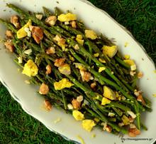 Wild asparagus salad