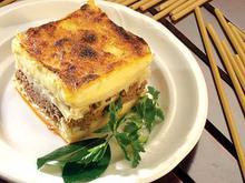 Παστίτσιο - Μακαρόνια με κιμά στόν φούρνο