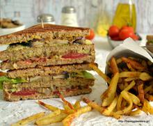 Vegan club sandwitch