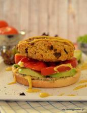 Vegan junk food: mushroom millet burger