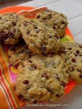 Μπισκότα με κομμάτια σοκολάτας γάλακτος και φουντούκια