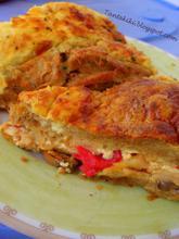 Σουφλέ ή πίτα με μανιτάρια και πιπεριές