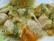 Κοτόπουλο πιπεράτο με λαχανικά