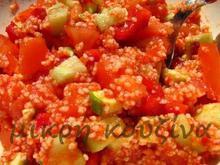 Κους κους με λαχανικά και πάστα πιπεριάς Φλωρίνης