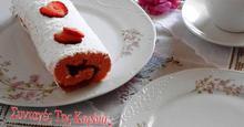 Ρολό με μαρμελάδα φράουλα