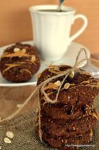 Chocolate oat avocado cookies