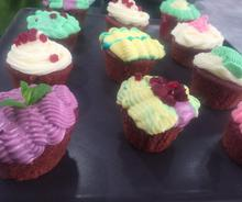 Cupcakes Red Velvet με παντζάρι