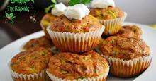 Muffins με κολοκυθάκια