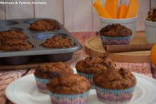 Muffin Κολοκύθας χωρίς βούτυρο, ζάχαρη, αυγά και μίξερ