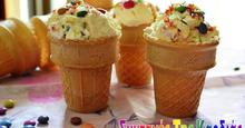 Παγωτό βανίλια με smarties