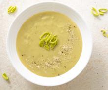 Σούπα βελουτέ µε πράσο και πατάτες