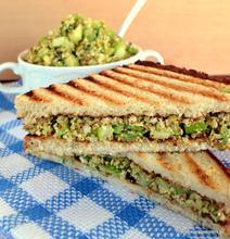 Vegan tuna salad toast