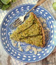 Vegan zucchini tart
