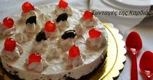 Cheesecake με oreo, baileys και κερασάκια