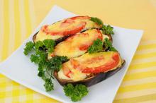 Μελιτζάνες γεμιστές με μανιτάρια - Συνταγές Μαγειρικής - Chefoulis