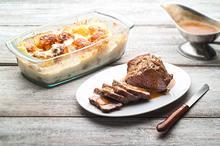 Ψητό κατσαρόλας με πατάτες ογκρατέν