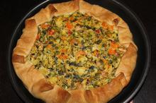 Πίτα λαχανικών ανοιχτή - Συνταγές Μαγειρικής - Chefoulis