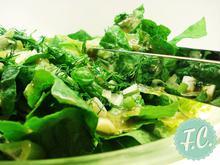 Πράσινη Σαλάτα με Ντρέσινγκ Τζίντζερ  - Funky Cook