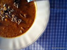 Φθινοπωρινή σούπα με γλυκοπατάτα και πορτομπέλλο με άρωμα δυόσμου-Autumn sweet potato portobello mint scented soup