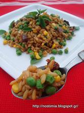 Σαλάτα με καμούτ και αρακά- Pea kamut salad