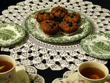 Muffins με μήλο αρώνια και μέλι