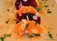 Σαλάτα παντζάρι με πορτοκάλι-Beetroot orange salad