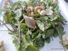 Σαλάτα ρόκα με κάσιους – Arugula salad with cashews