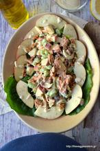 Σαλάτα waldorf με μήλο, σέλερυ, καρύδια κ φυτική μαγιονέζα