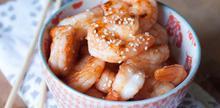 Συνταγές: Γαρίδες με εσπεριδοειδή, σουσάμι, σάλτσα τσίλι, μέλι, λάδι