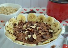 Chocolate hazelnut porridge