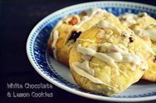 Μπισκότα με Λευκή Σοκολάτα και Λεμόνι
