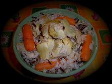 Ρυζότο με άγριο ρύζι αγκινάρες και καρότα
