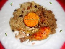 Κοτόπουλο πορτοκαλάτο γεμιστό με διπλή χριστουγεννιάτικη γέμιση... με κιμά και ρύζι