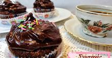 Cupcakes κολοκύθας με σοκολάτα και μπύρα