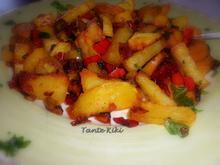 Πατάτες με πιπεριές και λουκάνικο από την Ισπανία