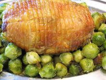 Ρολό κοτόπουλου με λαχανάκια Βρυξελλών